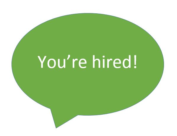 Speaking for Interviews_You're Hired speech bubble