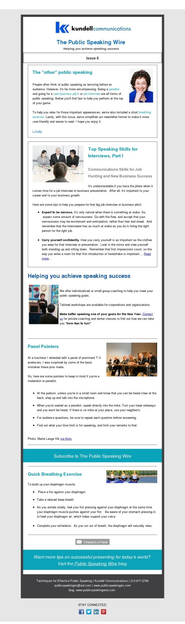 Public Speaking Wire Issue 6